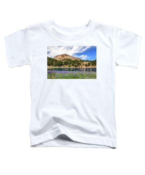 Lupines Lake And Lassen Toddler T-Shirt