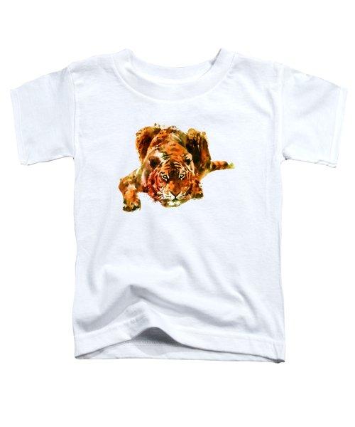 Lurking Tiger Toddler T-Shirt by Marian Voicu