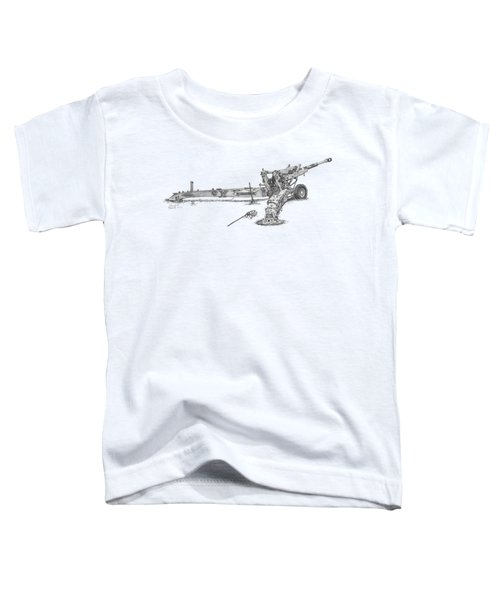 M198 Howitzer - Natural Sized Prints Toddler T-Shirt