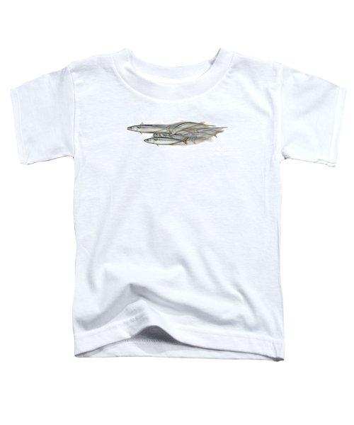 Mackerel School Of Fish - Scomber - Nautical Art - Seafood Art - Marine Art -game Fish Toddler T-Shirt