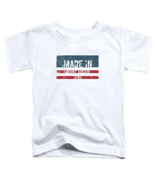 Made In Mount Auburn, Iowa Toddler T-Shirt