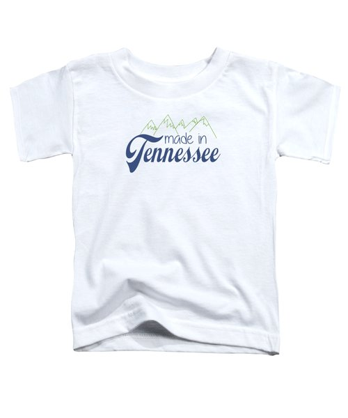 Made In Tennessee Blue Toddler T-Shirt