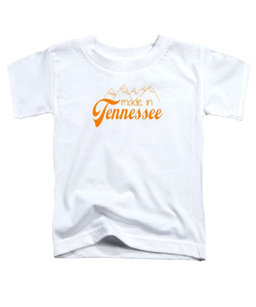 Made In Tennessee Orange Toddler T-Shirt
