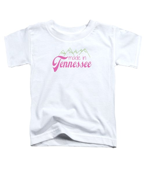 Made In Tennessee Pink Toddler T-Shirt