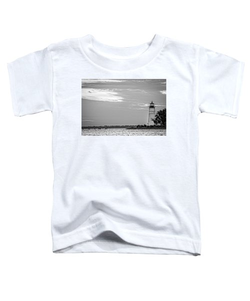 Madisonville Lighthouse In Black-and-white 2 Toddler T-Shirt