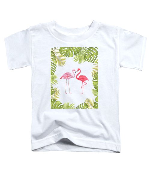 Magical Tropicana Love Flamingos And Leaves Toddler T-Shirt