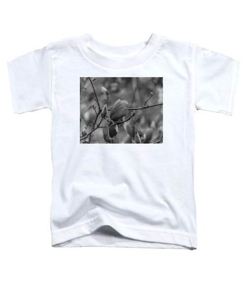 Magnolia Bw Blooms Buds Branches Toddler T-Shirt