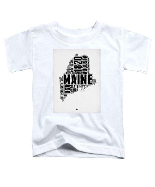 Maine Word Cloud 2 Toddler T-Shirt