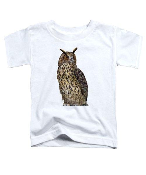 Majestic Eurasian Northern Eagle Owl Bubo Bubo - Hibou Grand-duc - Buho Real - Nationalpark Eifel Toddler T-Shirt