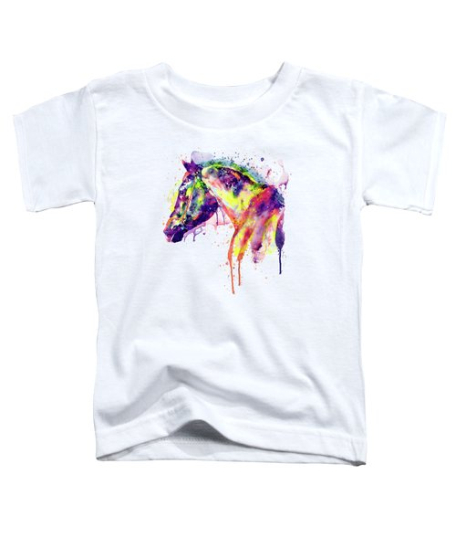 Majestic Horse Toddler T-Shirt by Marian Voicu