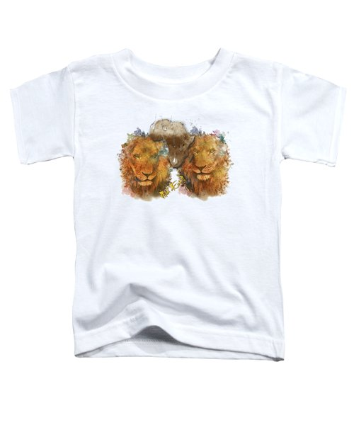 Majestic Lions Surrounded By Pythons Toddler T-Shirt