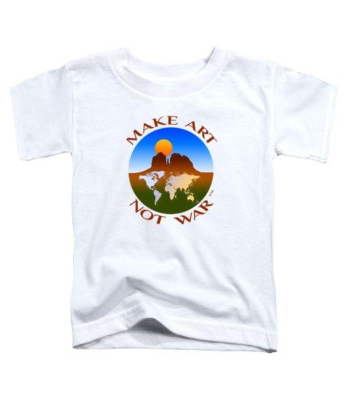 Make Art Not War Logo Toddler T-Shirt