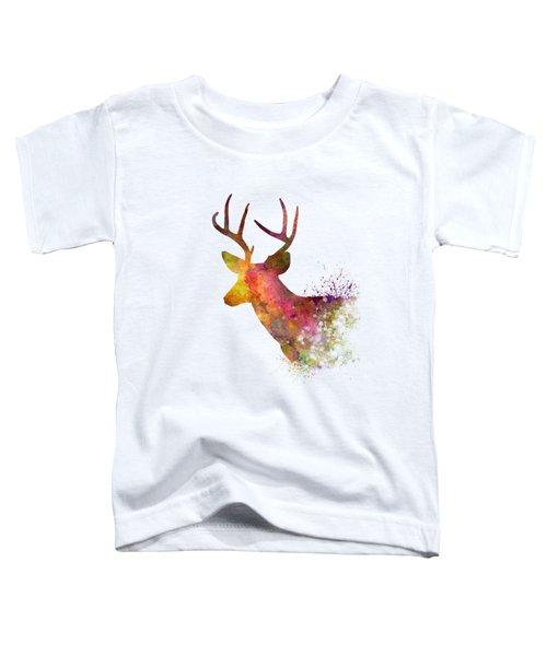 Male Deer 02 In Watercolor Toddler T-Shirt