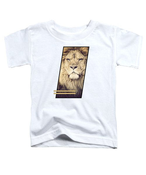 Male Lion Toddler T-Shirt by Sven Horn