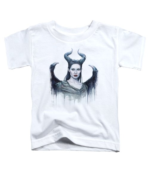 Maleficent Watercolor Portrait Toddler T-Shirt