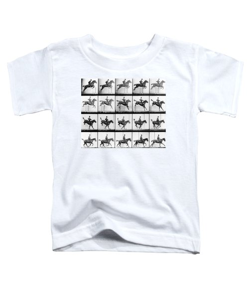 Man And Horse Jumping Toddler T-Shirt