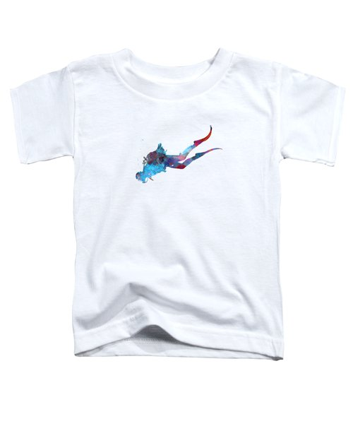 Man Scuba Diver 03 In Watercolor Toddler T-Shirt
