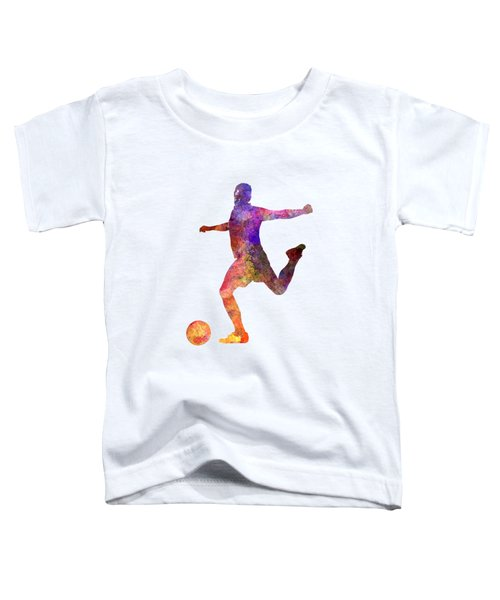 Man Soccer Football Player 03 Toddler T-Shirt by Pablo Romero