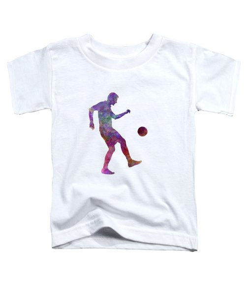 Man Soccer Football Player 04 Toddler T-Shirt by Pablo Romero