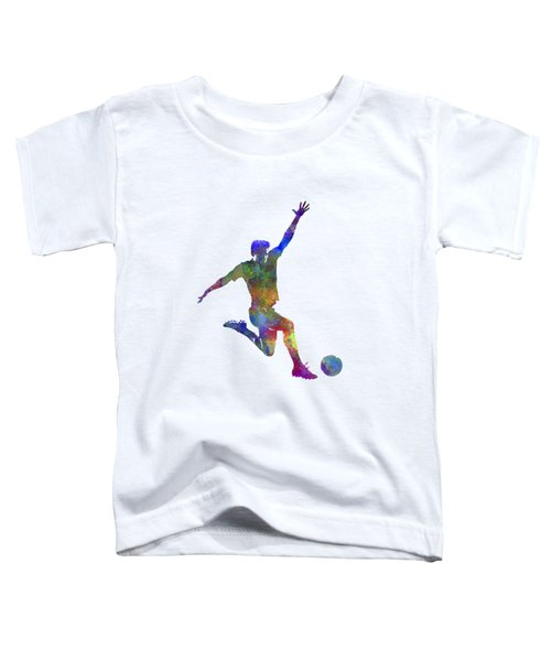 Man Soccer Football Player 05 Toddler T-Shirt by Pablo Romero