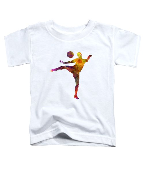 Man Soccer Football Player 07 Toddler T-Shirt by Pablo Romero