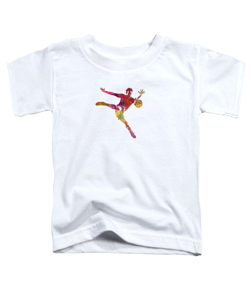 Man Soccer Football Player 08 Toddler T-Shirt by Pablo Romero