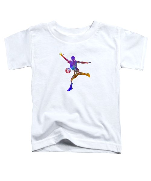 Man Soccer Football Player 14 Toddler T-Shirt by Pablo Romero