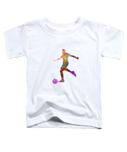 Man Soccer Football Player 16 Toddler T-Shirt by Pablo Romero