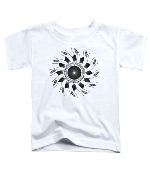 Mandala Black And White Toddler T-Shirt