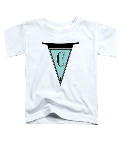 Pennant Deco Blues Banner Initial Letter C Toddler T-Shirt
