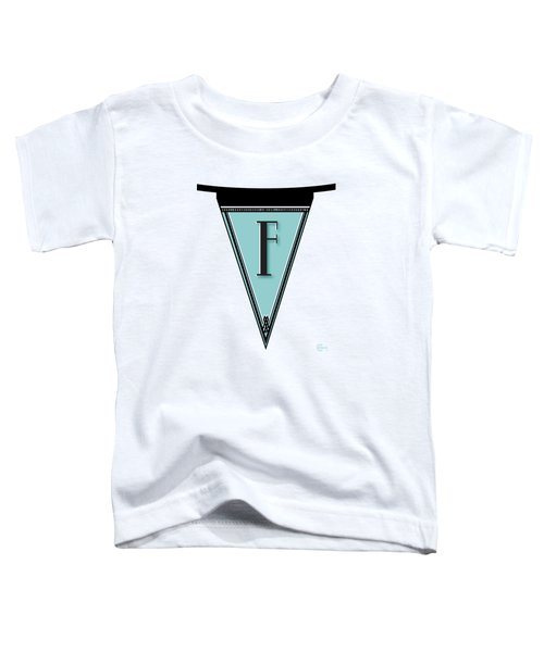 Pennant Deco Blues Banner Initial Letter F Toddler T-Shirt