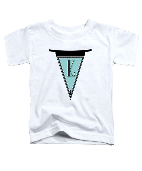 Pennant Deco Blues Banner Initial Letter K Toddler T-Shirt