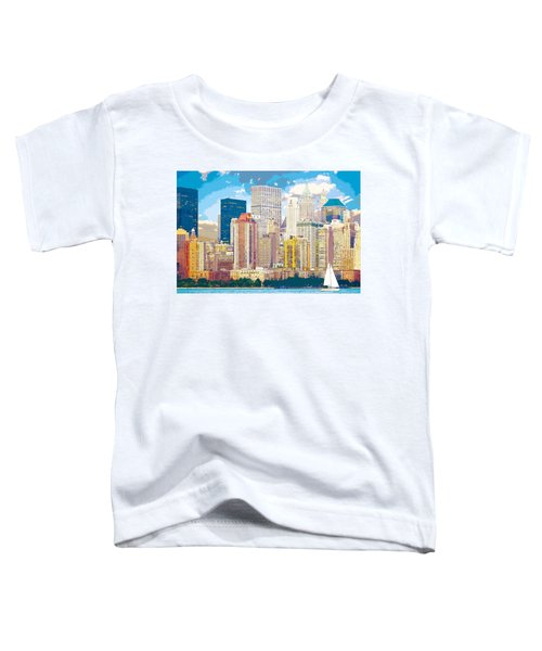 Manhattan Skyline New York City Toddler T-Shirt