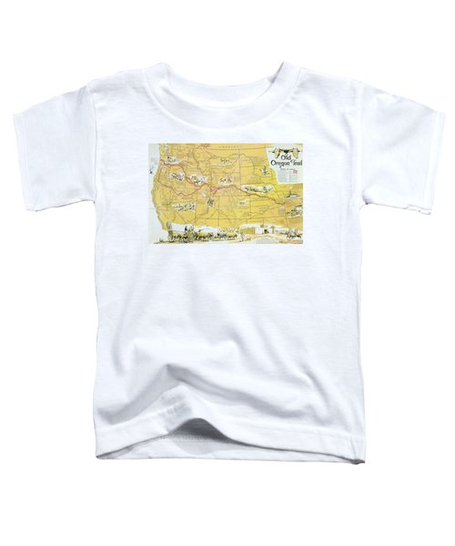 Map Of The Old Oregon Trail Toddler T-Shirt