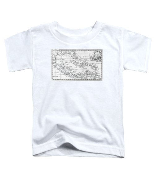 Map Of The West Indies Florida And South America Toddler T-Shirt