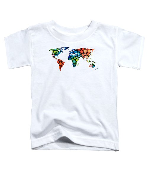 Map Of The World 1 -colorful Abstract Art Toddler T-Shirt
