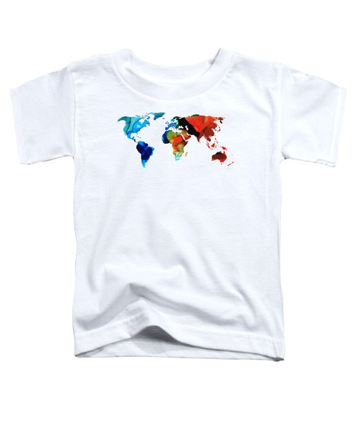 Map Of The World 3 -colorful Abstract Art Toddler T-Shirt