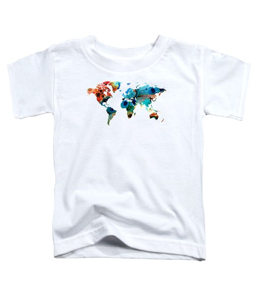 Map Of The World 6 -colorful Abstract Art Toddler T-Shirt