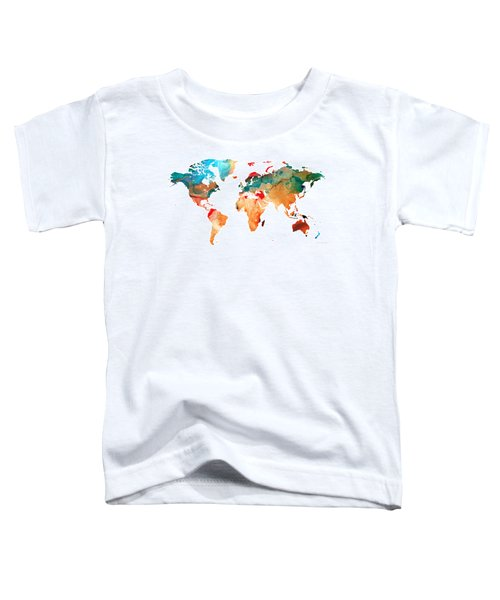 Map Of The World 7 -colorful Abstract Art Toddler T-Shirt