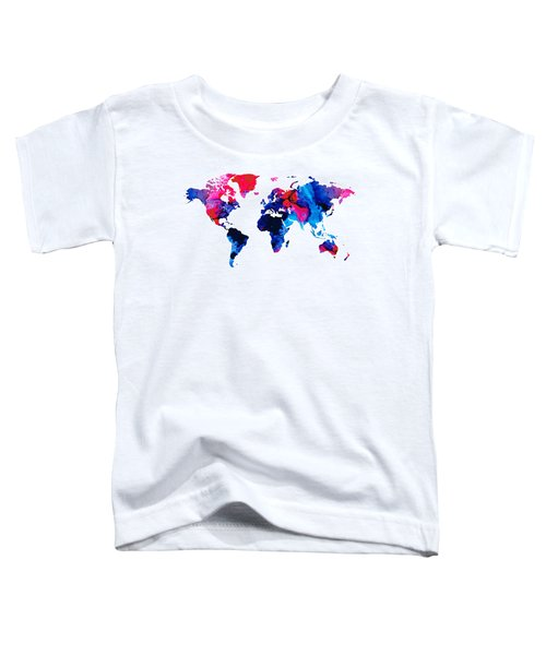 Map Of The World 9 -colorful Abstract Art Toddler T-Shirt
