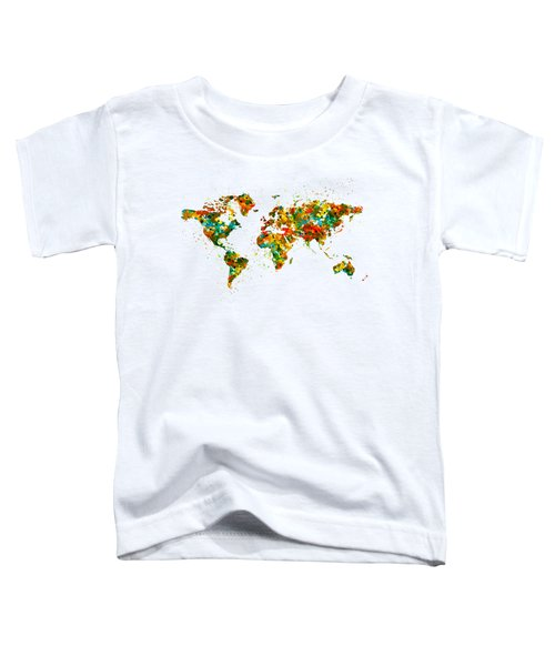 Map Of The World Watercolor Toddler T-Shirt