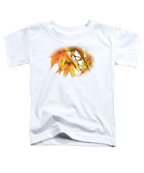 Maple Leaves Toddler T-Shirt by Barry Jones