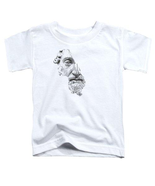 Marcus Aurelius Antoninus Augustus / Black And White Toddler T-Shirt