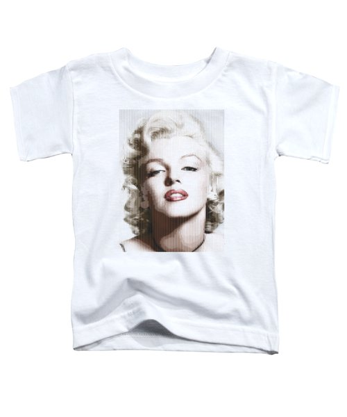 Marilyn Monroe - Colored Verticals Toddler T-Shirt by Samuel Majcen