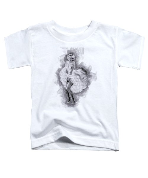 Marilyn Monroe Portrait 03 Toddler T-Shirt by Pablo Romero