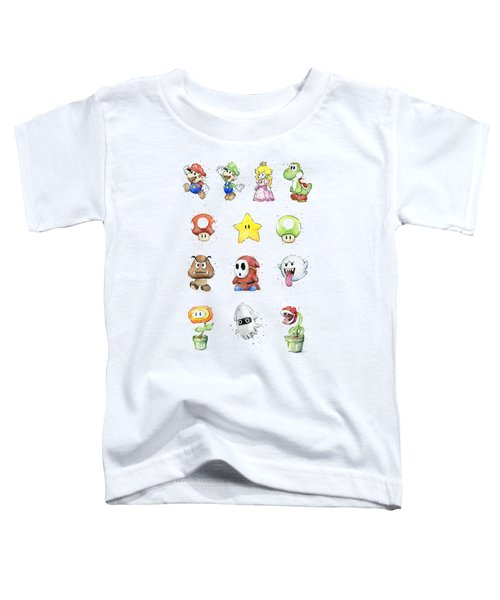 Mario Characters In Watercolor Toddler T-Shirt
