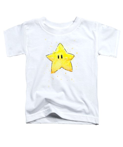 Mario Invincibility Star Watercolor Toddler T-Shirt