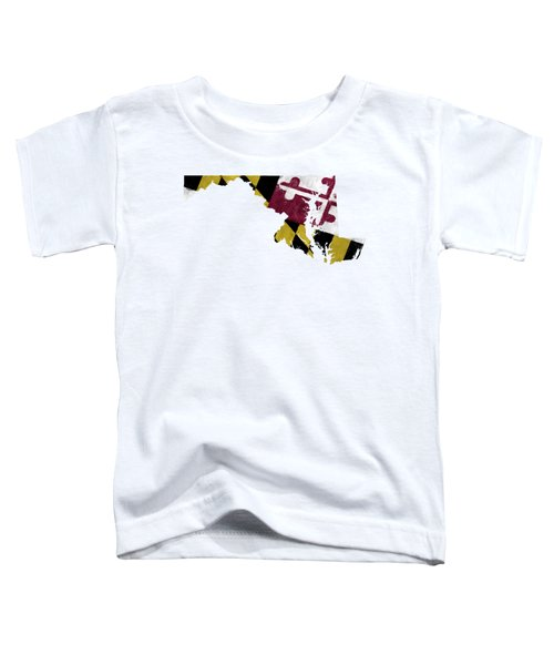 Maryland Map Art With Flag Design Toddler T-Shirt