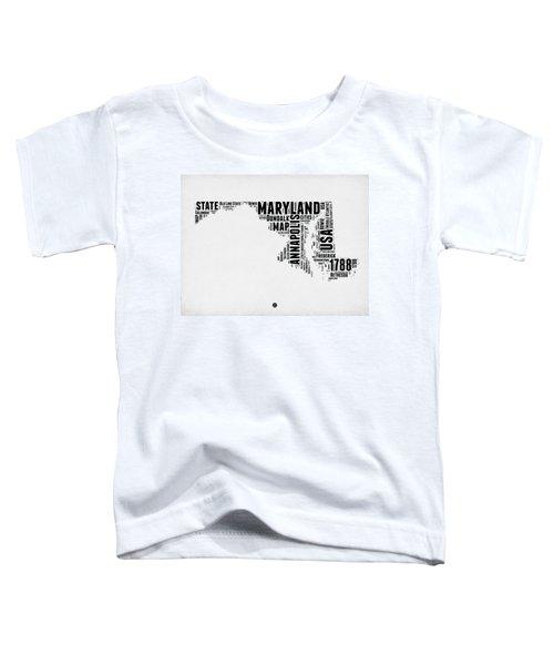 Maryland Word Cloud 2 Toddler T-Shirt