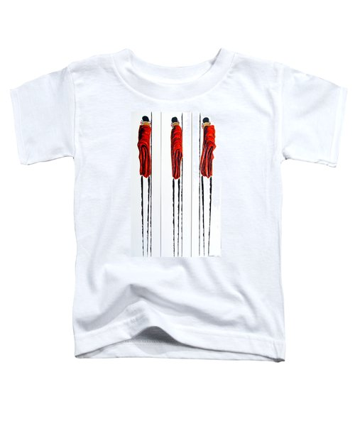 Masai Warrior Triptych - Original Artwork Toddler T-Shirt